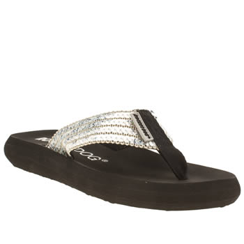Womens Rocket Dog Silver Spotlight Glam Squad Sandals