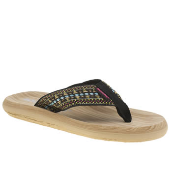 Rocket Dog Black & pink Spotlight Sundance Womens Sandals