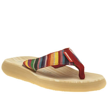 Womens Rocket Dog Multi Sunset Eden Stripe Sandals