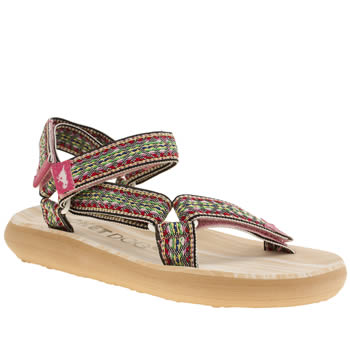 Womens Rocket Dog Multi Surfside Rain Dance Sandals