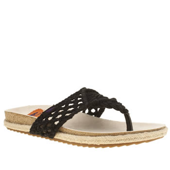 Rocket Dog Black Fairytale Macrame Sandals