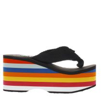 Rocket Dog Black Big Top Rainbow Womens Sandals