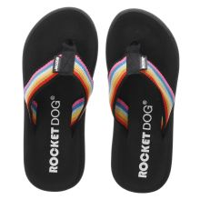 Rocket Dog Black Spotlight Rainbow Womens Sandals