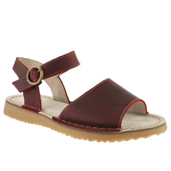Womens Red Or Dead Red Tumble Weed Sandals