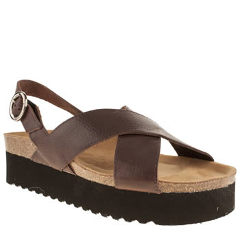 womens red or dead brown zimmer sandals