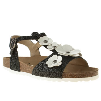 Red Or Dead Black Daisy Chain Ii Sandals