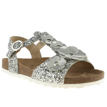 womens red or dead silver daisy chain ii sandals