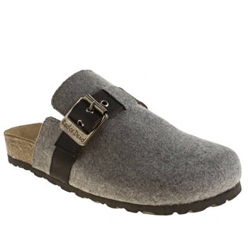 Womens Red Or Dead Light Grey Professor Sandals