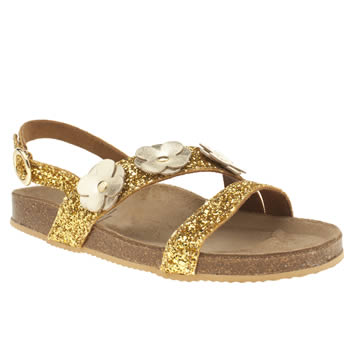 Womens Red Or Dead Gold Secret Garden Sandals