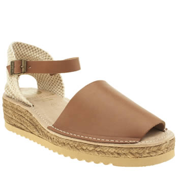 Womens Red Or Dead Tan Brighton Sandals