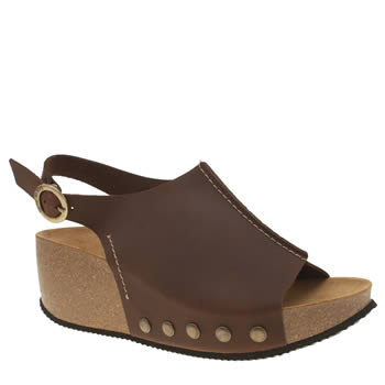 Womens Red Or Dead Brown Jackson Sandals