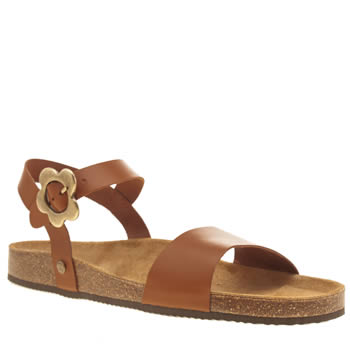 Red Or Dead Tan Lula Mae Sandals