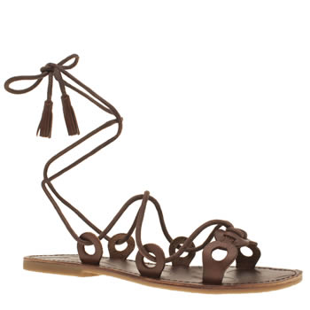 Red Or Dead Brown Winnie Sandals