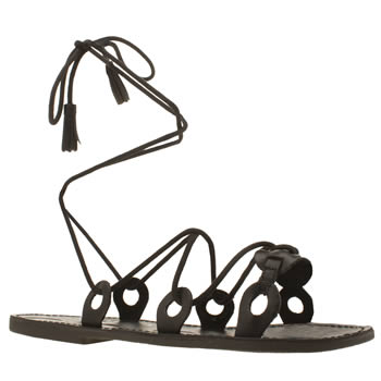 Red Or Dead Black Rod Winnie Sandals