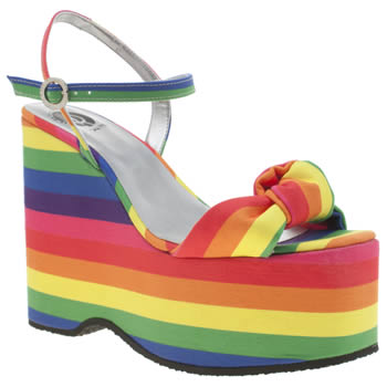 Red Or Dead Multi Ruby Rainbow Sandals