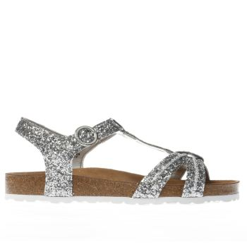 Red Or Dead Silver Glenda Glitter Sandals