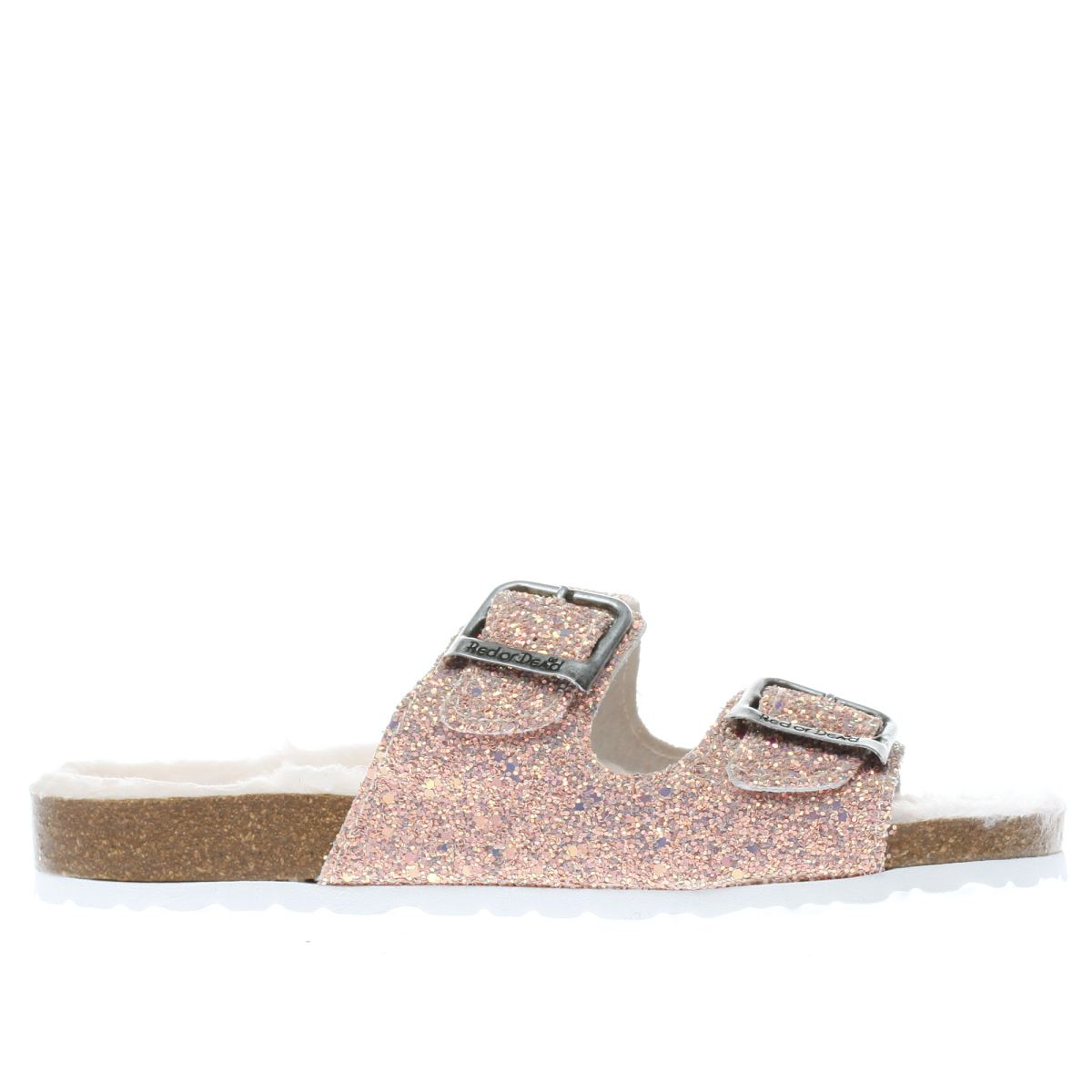 red or dead pale pink ava sandals