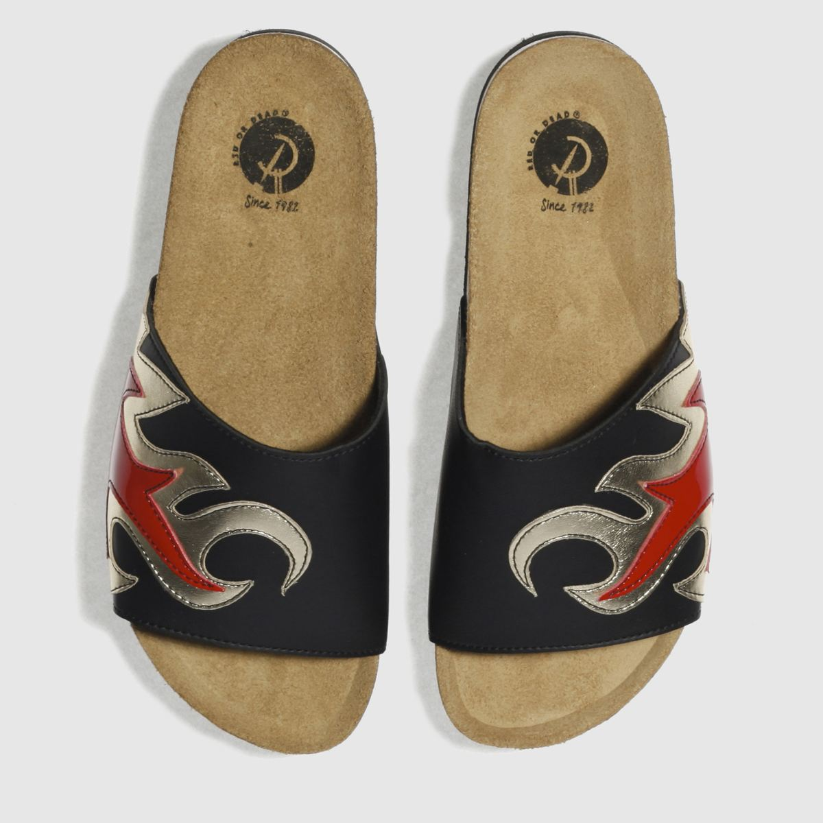 Red Or Dead Black & Red Flambe Sandals