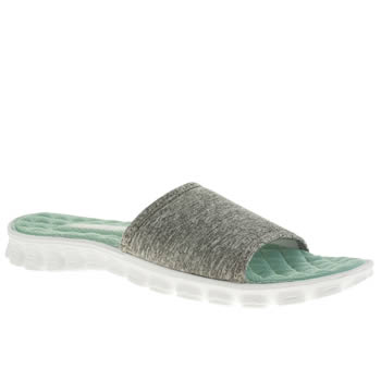 Womens Skechers Grey Ez Flex Cool First Mate Sandals