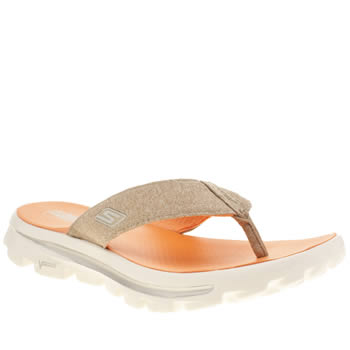 Skechers Beige Go Walk Move Solstice Sandals