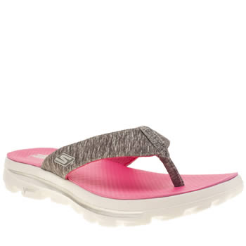 Skechers Dark Grey Go Walk Move Solstice Sandals