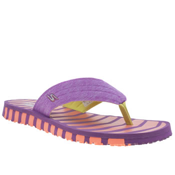 Skechers Purple Go Flex Vitality Sandals