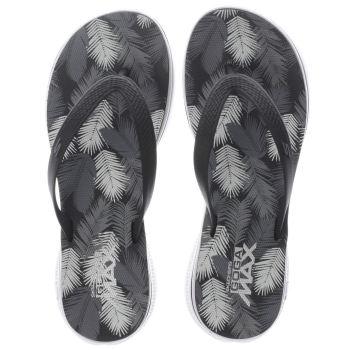 Skechers Black & White H2 Goga Lagoon Sandals