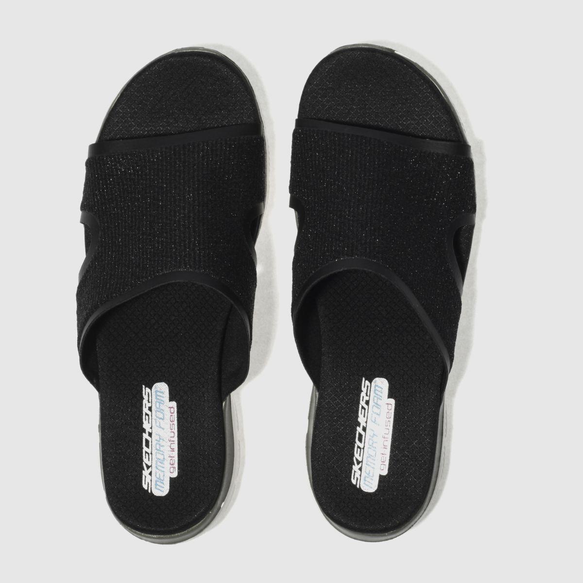 Skechers Black Flex Appeal 2.0 Summer Jam Sandals