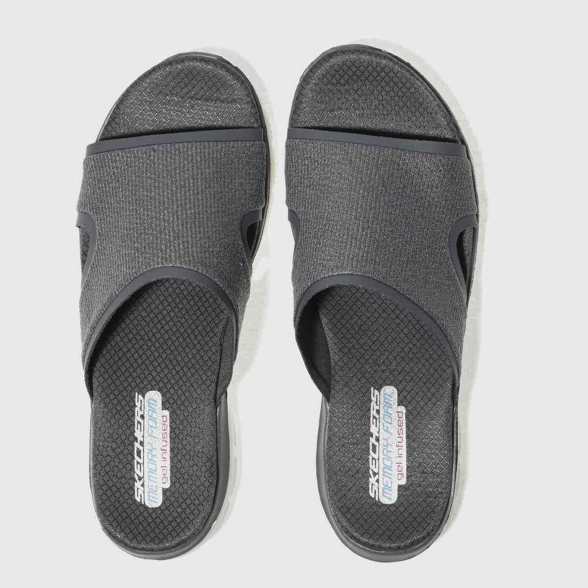 Skechers Grey Flex Appeal 2.0 Summer Jam Sandals