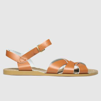 Swedish Hasbeens Tan Braided High Sandals