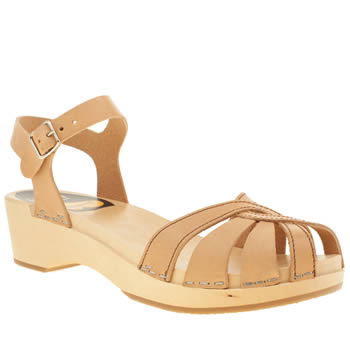 Womens Swedish Hasbeens Tan Debutant Sandals