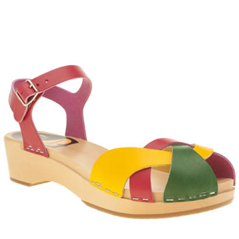 Womens Swedish Hasbeens Multi Tutti Frutti Sandals