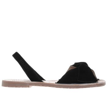 Solillas Black Bow Womens Sandals
