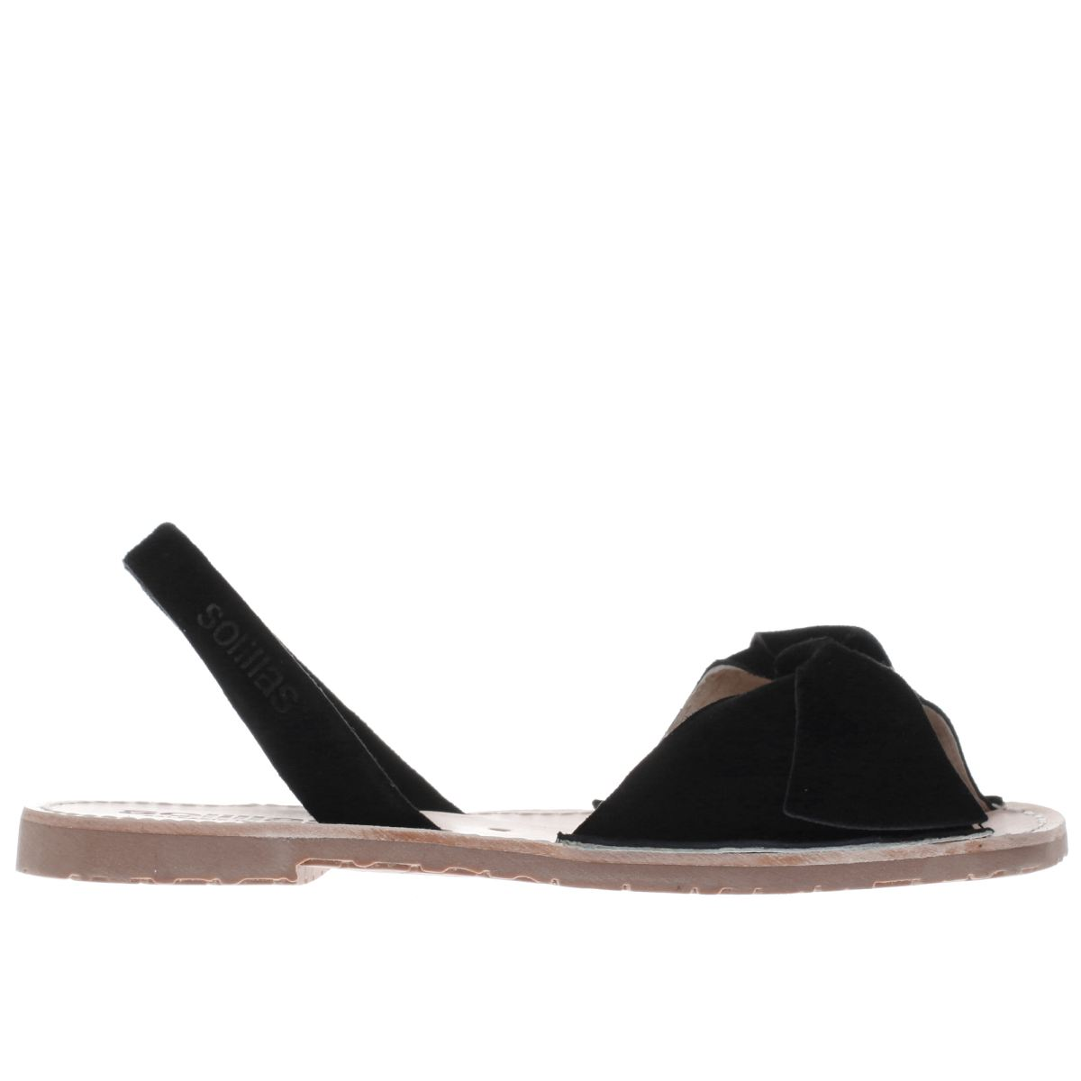 solillas black bow sandals