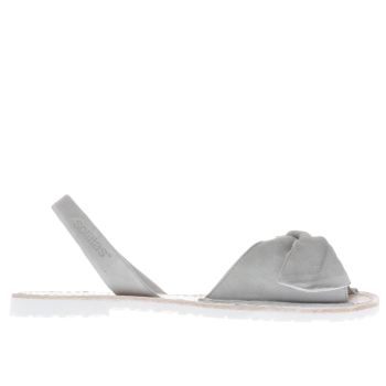 Solillas Grey Bow Womens Sandals