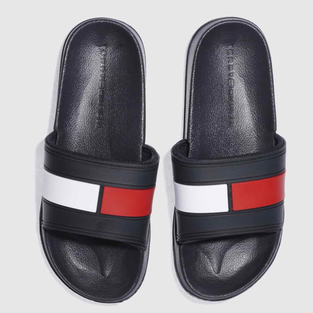 Tommy Hilfiger Tommy Hilfiger Navy & White Flag Pool Slide Sandals