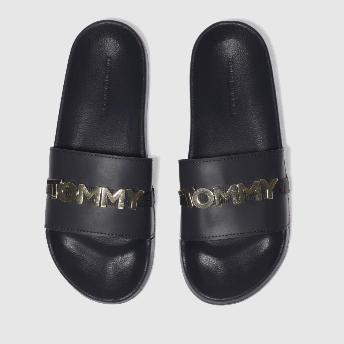 Tommy Hilfiger Tommy Hilfiger Navy & Gold Beach Slide Sandals