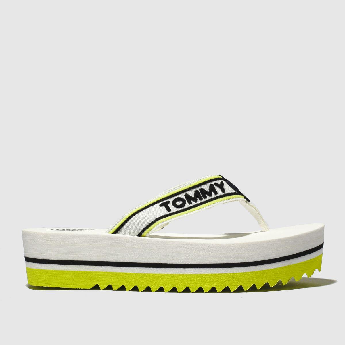 Tommy Hilfiger White Tj Pop Webbing Mid Beach Sandals