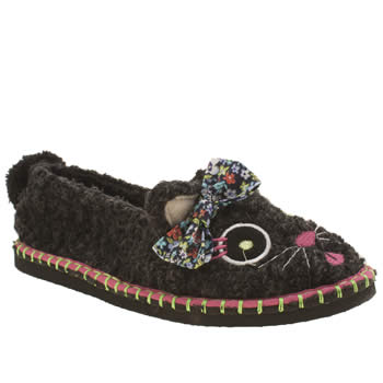 Tigerbear Republik Black & pink Kitkatkitty Slippers