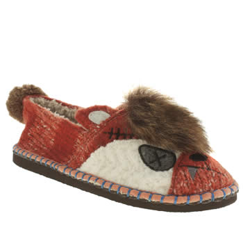 Womens Tigerbear Republik Brown Foxyfox Slippers