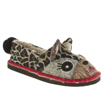 Womens Tigerbear Republik Beige & Brown Leolita Slippers