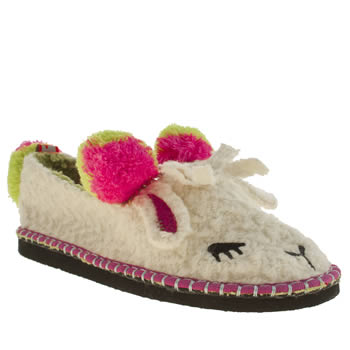 Tigerbear Republik White & Pink Lousy Lazy Lamb Slippers