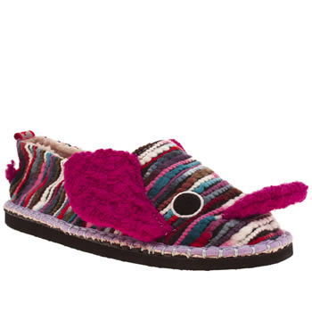 Womens Tigerbear Republik Multi Elephalump Slippers