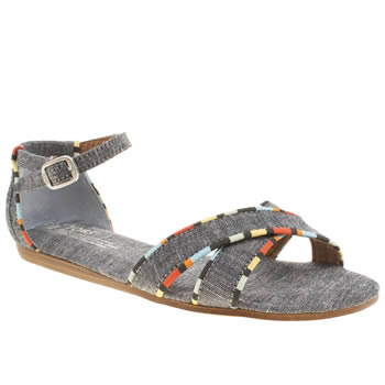 Womens Toms Pale Blue Correa Sandal Chambray Sandals