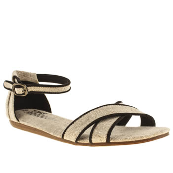 Toms Stone & Black Correa Sandals