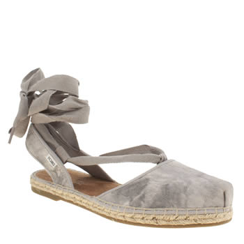 Toms Light Grey Bella Espadrille Sandals