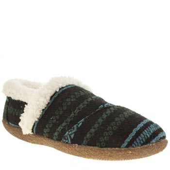 Womens Toms Navy Tribal Stripe Slippers