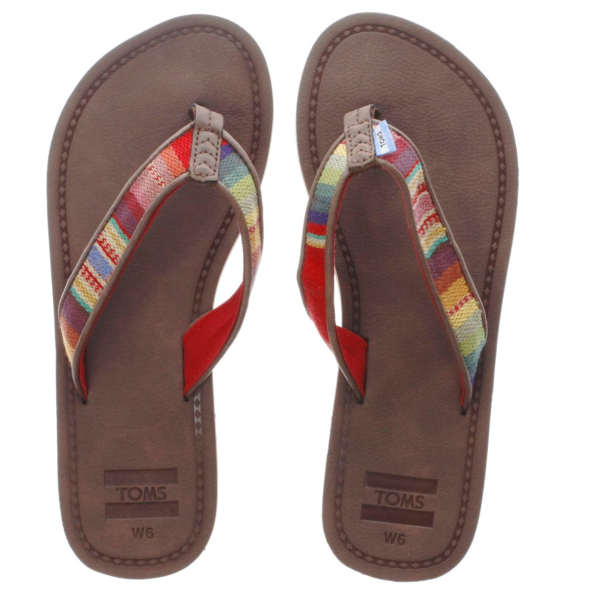 toms brown solana flip flop sandals