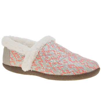 Toms Light Grey House Womens Slippers