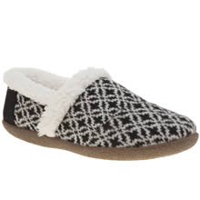 Toms Black & White House Womens Slippers